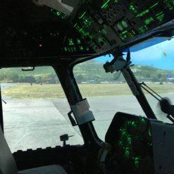 кабина тренажера вертолета Ми-8МТВ-2