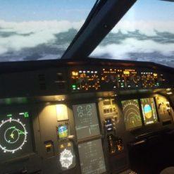 кабина тренажера самолета Airbus A320